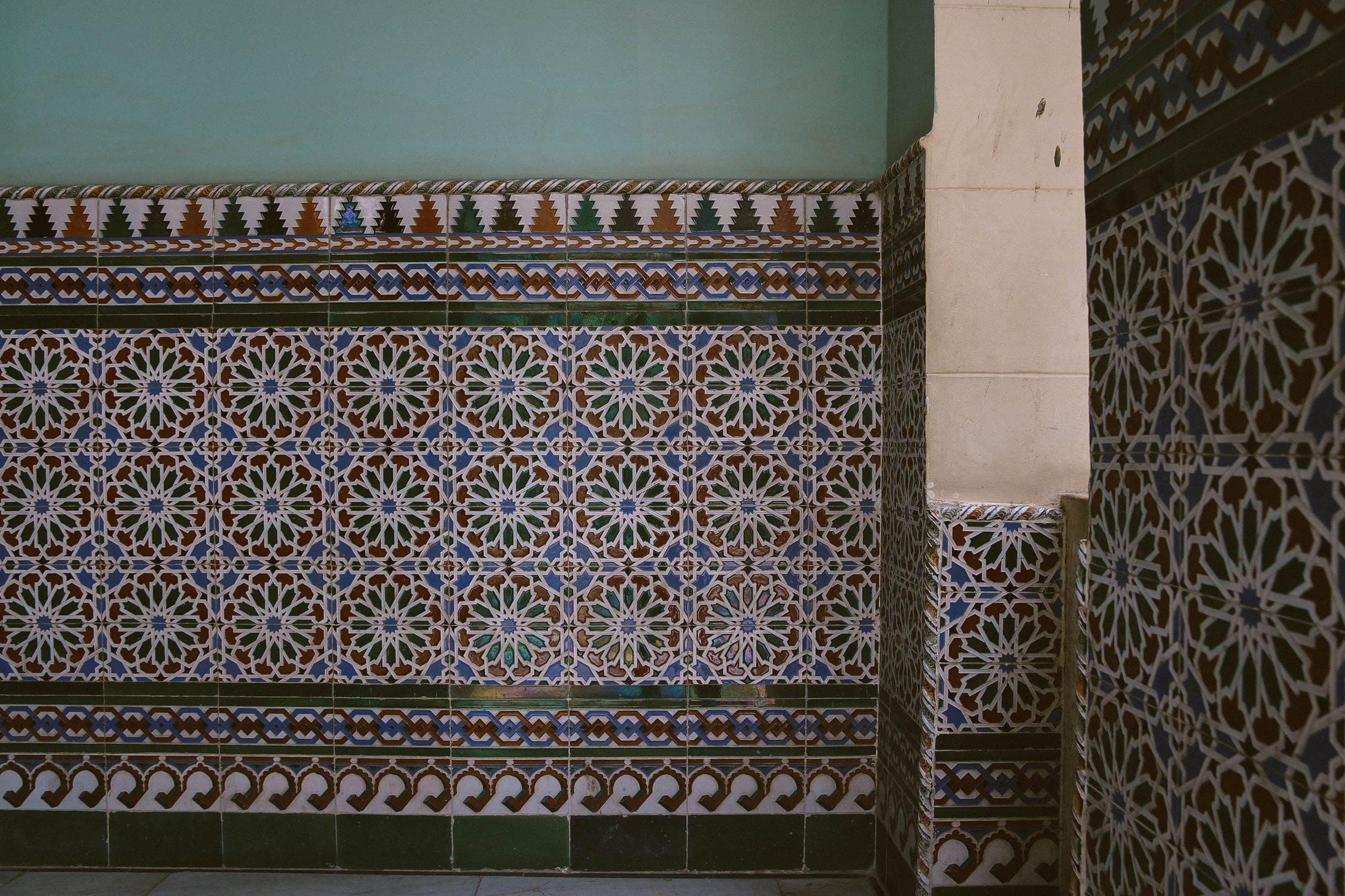Slidte marokkanske fliser