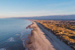 Vestktysten af danmark med strand